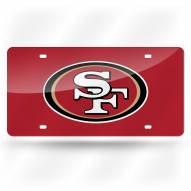 San Francisco 49ers Laser Cut License Plate
