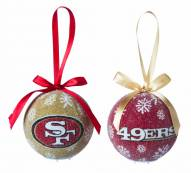 San Francisco 49ers LED Boxed Ornament Set