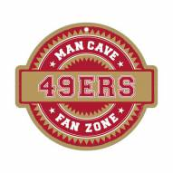San Francisco 49ers Man Cave Fan Zone Wood Sign