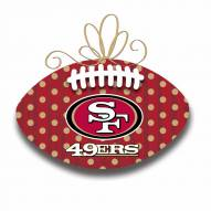San Francisco 49ers Metal Football Door Decor