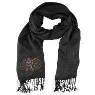 San Francisco 49ers Black Pashi Fan Scarf