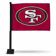 San Francisco 49ers NFL Car Flag with Black Pole