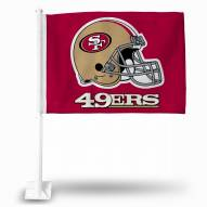 San Francisco 49ers Helmet Car Flag