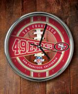 San Francisco 49ers NFL Chrome Wall Clock