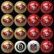 San Francisco 49ers NFL Home vs. Away Pool Ball Set