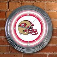 San Francisco 49ers NFL Neon Wall Clock