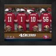 San Francisco 49ers NFL Personalized Locker Room 11 x 14 Framed Photograph