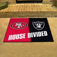 San Francisco 49ers/Oakland Raiders House Divided Mat