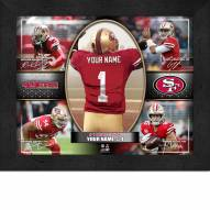San Francisco 49ers Personalized Framed Action Collage