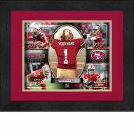 San Francisco 49ers Personalized 13 x 16 Framed Action Collage