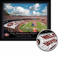 San Francisco 49ers Personalized Framed Stadium Print
