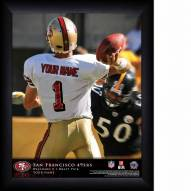 San Francisco 49ers Personalized NFL Action QB Framed Print