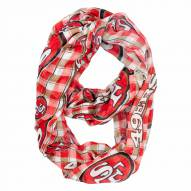 San Francisco 49ers Plaid Sheer Infinity Scarf