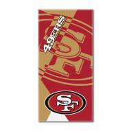San Francisco 49ers Puzzle Beach Towel