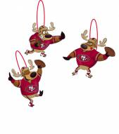 San Francisco 49ers Reindeer Ornaments