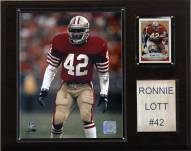 "San Francisco 49ers Ronnie Lott 12 x 15"" Player Plaque"