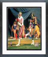 San Francisco 49ers Ronnie Lott In endzone Framed Photo
