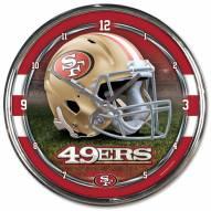 San Francisco 49ers Round Chrome Wall Clock