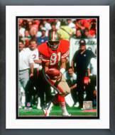 San Francisco 49ers Russ Francis 1985 Action Framed Photo