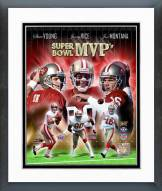 San Francisco 49ers San Francisco 49ers Super Bowl MVP's Composite Framed Photo