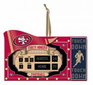 San Francisco 49ers Scoreboard Tree Ornament