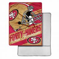 San Francisco 49ers Sherpa Foot Pocket Blanket