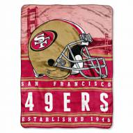 San Francisco 49ers Silk Touch Stacked Blanket