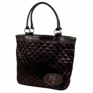 San Francisco 49ers Sport Noir Quilted Tote