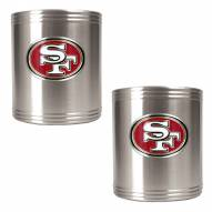 San Francisco 49ers Stainless Steel Can Coozie Set