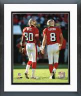 San Francisco 49ers Steve Young / Jerry Rice backs to camera Framed Photo