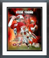 San Francisco 49ers Steve Young Class Of 2005 Hall of Fame Composite Framed Photo