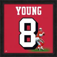 San Francisco 49ers Steve Young Uniframe Framed Jersey Photo