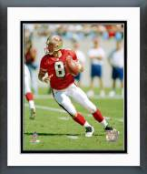 San Francisco 49ers SteveYoung - Dropping back Framed Photo