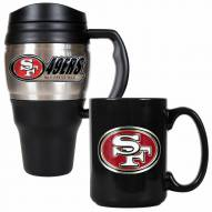 San Francisco 49ers Travel Mug & Coffee Mug Set