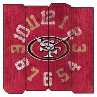 San Francisco 49ers Vintage Square Clock