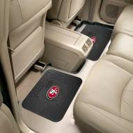 San Francisco 49ers Vinyl 2-Piece Rear Floor Mats