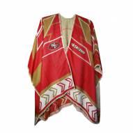 San Francisco 49ers Whipstitch Poncho