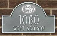 San Francisco 49ers NFL Personalized Address Plaque - Pewter Silver