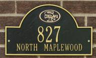 San Francisco 49ers NFL Personalized Address Plaque - Black Gold