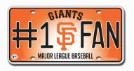 San Francisco Giants #1 Fan License Plate
