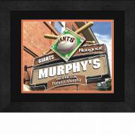 San Francisco Giants 13 x 16 Personalized Framed Sports Pub Print