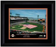 San Francisco Giants 13 x 16 Personalized Framed Stadium Print