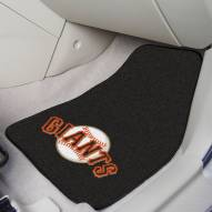 San Francisco Giants 2-Piece Carpet Car Mats