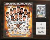 "San Francisco Giants 12"" x 15"" 2012 World Series Champions Plaque"