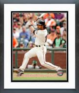 San Francisco Giants Angel Pagan 2014 Action Framed Photo