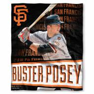 San Francisco Giants Buster Posey Silk Touch Blanket