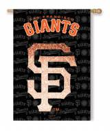 San Francisco Giants Double Sided Glitter Flag