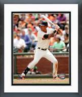 San Francisco Giants Ehire Adrianza 2014 Action Framed Photo