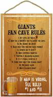 San Francisco Giants Fan Cave Rules Wood Sign
