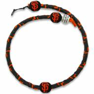 San Francisco Giants Frozen Rope Color Baseball Necklace